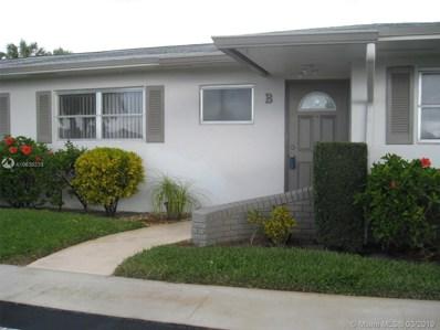 2825 E Crosley Dr E UNIT B, West Palm Beach, FL 33415 - #: A10636233