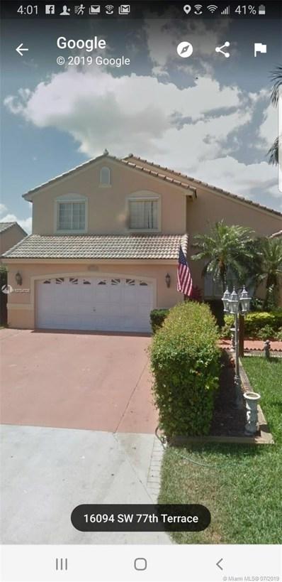 16094 SW 77th Ter, Miami, FL 33193 - MLS#: A10704705