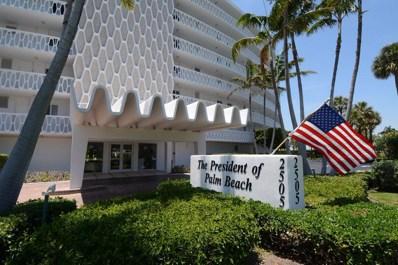 2505 S Ocean Boulevard UNIT 604, Palm Beach, FL 33480 - MLS#: RX-10334863