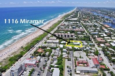 1116 Miramar Drive, Delray Beach, FL 33483 - MLS#: RX-10345383