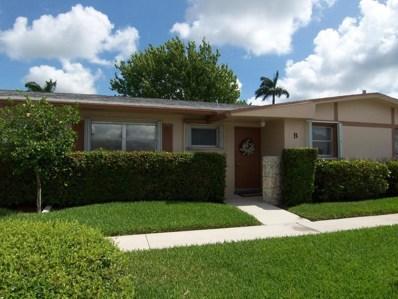 2703 W Dudley Drive UNIT B, West Palm Beach, FL 33415 - MLS#: RX-10356787