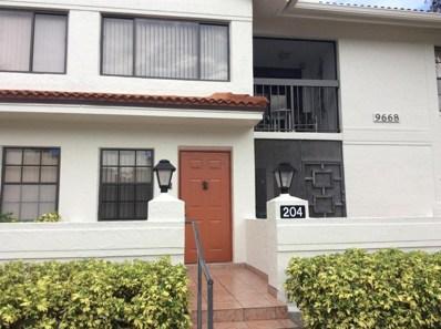 9668 Sills Drive E UNIT 204, Boynton Beach, FL 33437 - MLS#: RX-10369427