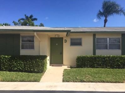 2945 Crosley Drive W UNIT D, West Palm Beach, FL 33415 - MLS#: RX-10380653