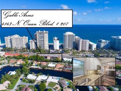 4143 N Ocean Boulevard UNIT 207, Fort Lauderdale, FL 33308 - MLS#: RX-10387332