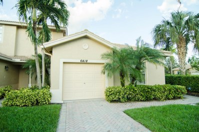 6418 Park Lake Circle, Boynton Beach, FL 33437 - MLS#: RX-10394158