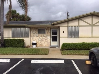 2570 Barkley Drive E UNIT I, West Palm Beach, FL 33415 - MLS#: RX-10396719