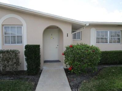 2784 Dudley Drive E UNIT I, West Palm Beach, FL 33415 - MLS#: RX-10402753