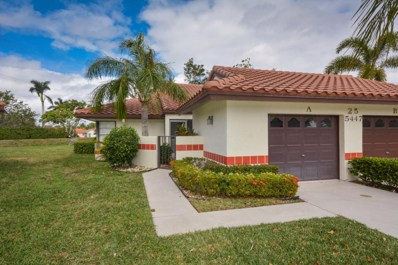 5447 Palm Springs Lane UNIT A, Boynton Beach, FL 33437 - MLS#: RX-10404186