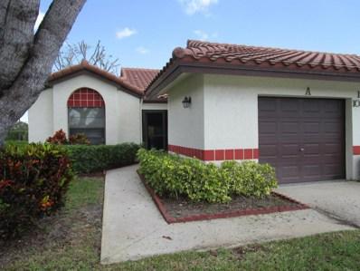 10958 Dolphin Palm Court UNIT A, Boynton Beach, FL 33437 - MLS#: RX-10409593