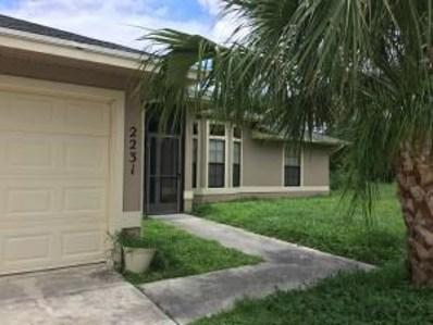 2231 SW Susset Lane, Port Saint Lucie, FL 34953 - MLS#: RX-10419429