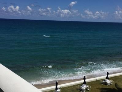 3570 S Ocean Boulevard UNIT 601, South Palm Beach, FL 33480 - MLS#: RX-10419931