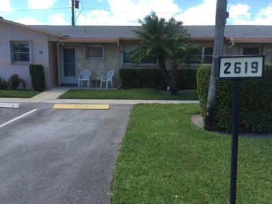 2619 W Dudley Drive UNIT D, West Palm Beach, FL 33415 - MLS#: RX-10420762