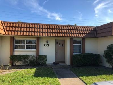 5730 E Fernley Drive E UNIT 61, West Palm Beach, FL 33415 - MLS#: RX-10425044