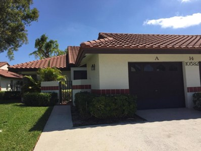 10582 Beach Palm Court UNIT A, Boynton Beach, FL 33437 - MLS#: RX-10425941