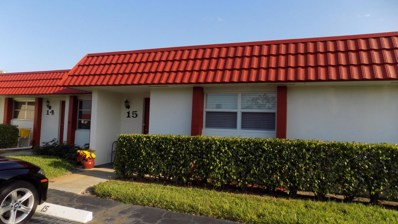 5800 W Fernley Drive UNIT 15, West Palm Beach, FL 33415 - MLS#: RX-10431917
