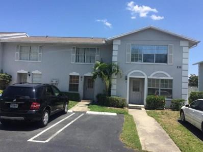 235 Foxtail Drive UNIT B, West Palm Beach, FL 33415 - #: RX-10434645