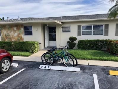 2671 Emory Drive E UNIT I, West Palm Beach, FL 33415 - MLS#: RX-10439228