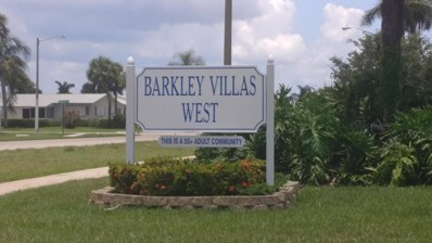 2531 Barkley Drive W UNIT E, West Palm Beach, FL 33415 - MLS#: RX-10445388