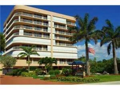 3210 S Ocean Boulevard UNIT 405, Highland Beach, FL 33487 - MLS#: RX-10447743