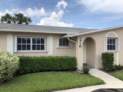 2784 Dudley Drive E UNIT D, West Palm Beach, FL 33415 - MLS#: RX-10448114