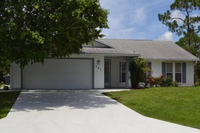 541 SW Violet Avenue, Port Saint Lucie, FL 34983 - MLS#: RX-10453035