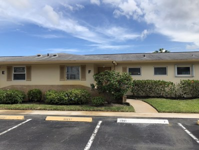 2561 W Barkley Drive W UNIT F, West Palm Beach, FL 33415 - MLS#: RX-10453826