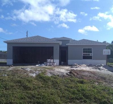 1633 SW Diamond Street, Port Saint Lucie, FL 34953 - MLS#: RX-10460160