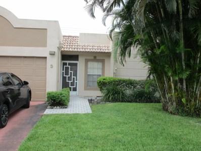 9110 Fairbanks Lane UNIT 3, Boca Raton, FL 33496 - MLS#: RX-10462865