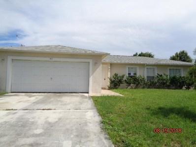 582 SW Bacon Terrace, Port Saint Lucie, FL 34953 - MLS#: RX-10463744