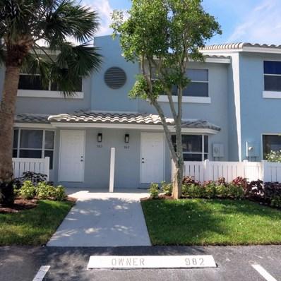 982 E Jeffery Street, Boca Raton, FL 33487 - #: RX-10463896