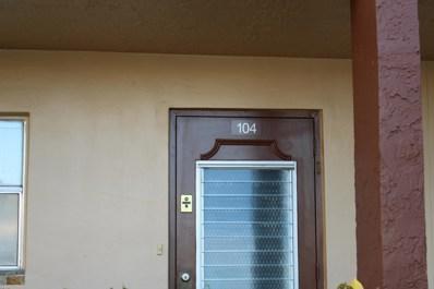 9261 Sunrise Lakes Boulevard UNIT 104, Sunrise, FL 33322 - MLS#: RX-10469423