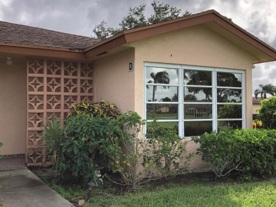 14612 Canalview Drive UNIT D, Delray Beach, FL 33484 - MLS#: RX-10470794