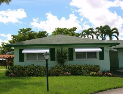 653 Hummingbird Lane, Delray Beach, FL 33445 - MLS#: RX-10470895