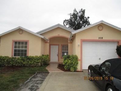 508 Broward Avenue, Greenacres, FL 33463 - #: RX-10500758