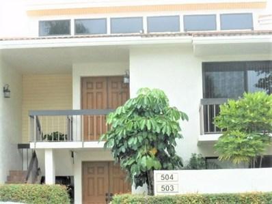 6852 Willow Wood Drive UNIT 504, Boca Raton, FL 33434 - #: RX-10500881