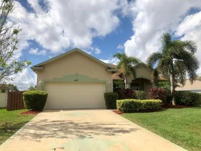 412 SW Cherryhill Road, Port Saint Lucie, FL 34953 - MLS#: RX-10507127
