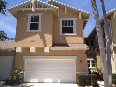 685 Pacific Grove Drive UNIT 2, West Palm Beach, FL 33401 - MLS#: RX-10513981