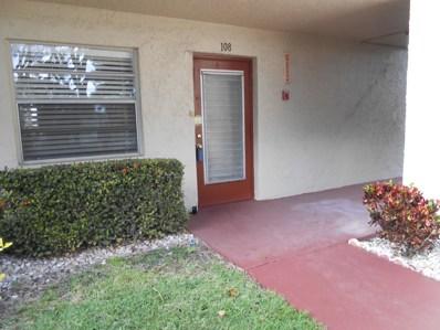 24 Abbey Lane UNIT 108, Delray Beach, FL 33446 - MLS#: RX-10515187
