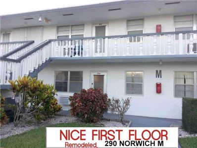 290 Norwich M UNIT M, West Palm Beach, FL 33417 - #: RX-10525190