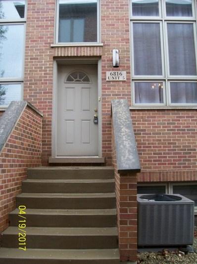 6816 W 65th Street UNIT 5, Chicago, IL 60638 - MLS#: 09693969