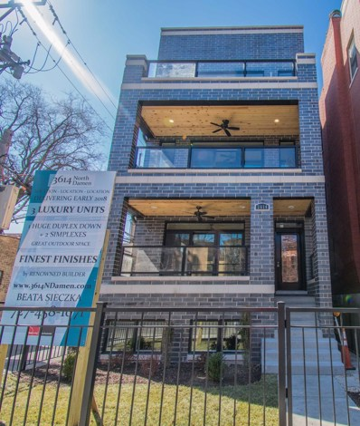 3614 N Damen Avenue UNIT 3, Chicago, IL 60618 - MLS#: 09835477