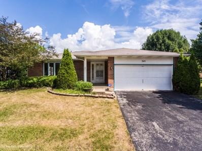 345 Chippewa Lane, West Chicago, IL 60185 - #: 10017918