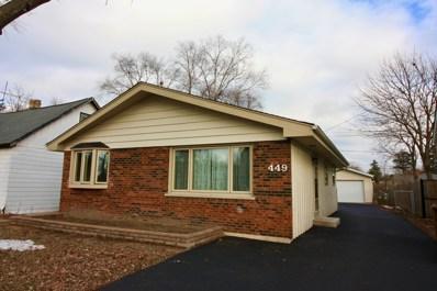 449 N Walnut Avenue, Wood Dale, IL 60191 - MLS#: 10150588