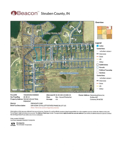 904 Nicholas Trail, Fremont, IN 46737 - MLS#: 201723164