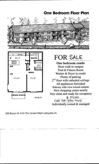320 Brown Street UNIT 108, West Lafayette, IN 47906 - #: 21554260