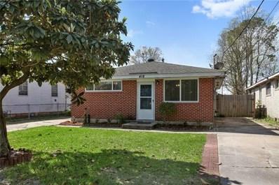418 Oriole Street, Metairie, LA 70003 - MLS#: 2143894