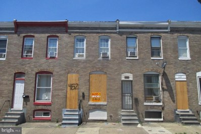 452 Furrow Street, Baltimore, MD 21223 - MLS#: 1000043871