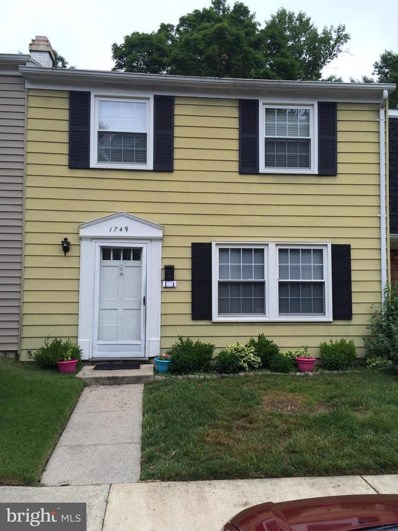1749 Carry Place, Crofton, MD 21114 - MLS#: 1000115884