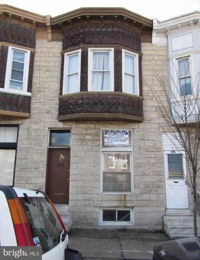 106 Highland Avenue N, Baltimore, MD 21224 - MLS#: 1000161090