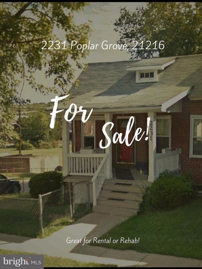 2231 Poplar Grove Street, Baltimore, MD 21216 - MLS#: 1000240962